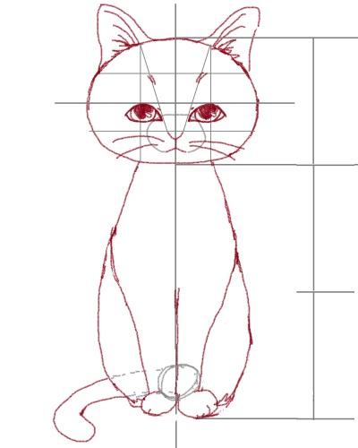 猫のイラストの描き方